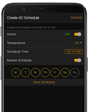 ac schedule